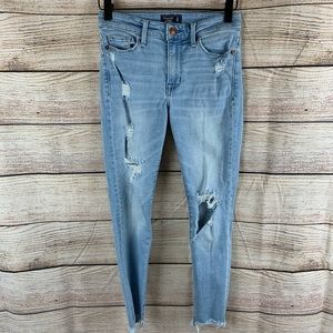 Abercrombie & Fitch Light Wash Distressed Skinny